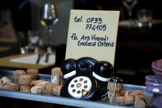 Osteria Ars Vivendi: per prenotare!