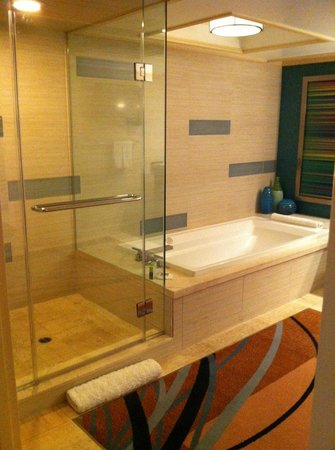 The Mirage Hotel & Casino : large glass shower