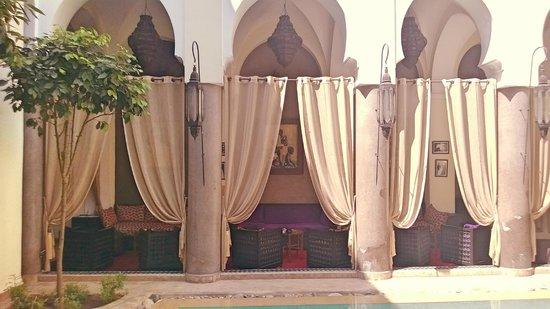 Palais Riad Calipau Marrakech : vue de la piscine