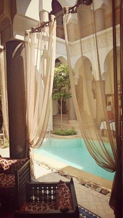 Palais Riad Calipau Marrakech : vue du salon