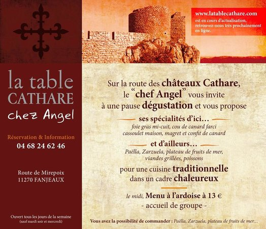 La Table Cathare: Web site not finished yet