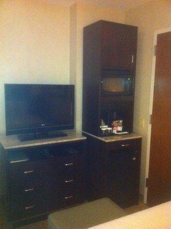 Hilton Garden Inn New York/West 35th Street: TV, microwave, and dresser
