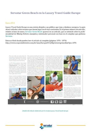 Mogán, España: Servatur Internal Newspaper - Publicity Nikolay Dobrev / Luxury Travel Guide 2014