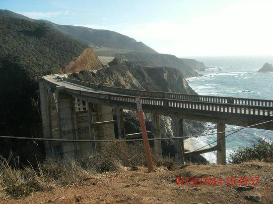 Del Monte Inn: Bixby bridge