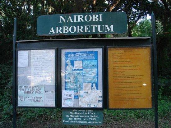 Nairobi Arboretum: Entrée