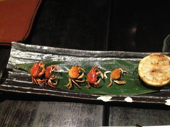Sushisamba: Flash-Fried crabs - very crunchy!