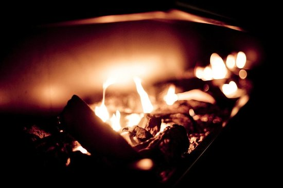 Pub On Wharf: Large open fire