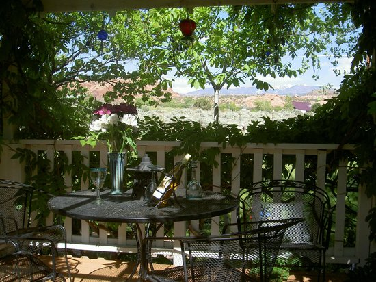 Desert Hills Bed and Breakfast: Back yard deck sitting area