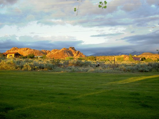 Desert Hills Bed and Breakfast: Back yard view