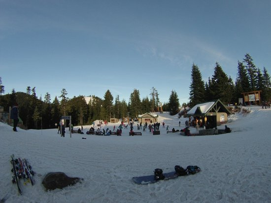 Grouse Mountain: Ice skating pond
