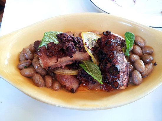 Fishing with Dynamite: Grilled Octopus with Cranberry Beans