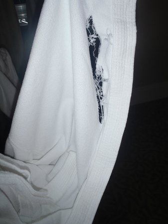 Fairmont Banff Springs : Minor deficiency - the ripped robe. The hotel did contact me for info to investigate.