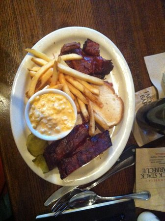 Jack Stack Barbecue - Freight House: ribs, burnt ends and cheesy corn