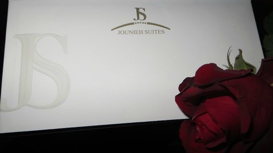 Jounieh Suites Hotel : special welcome letter