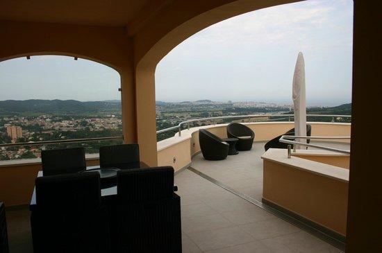 Casa-Marly Bed & Breakfast: Terrasse panoramique, vue sur la mer et campagne