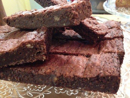 Rocket: Organic almond and dark chocolate brownie..