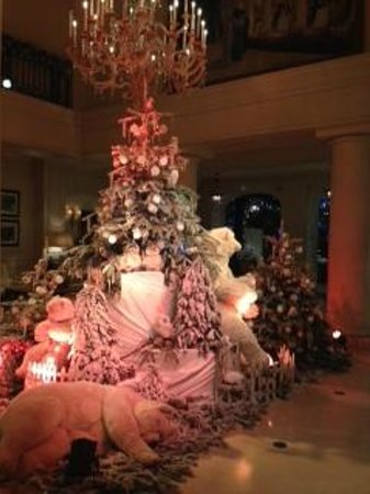 Hotel Hermitage Monte-Carlo: xmass decoration in the lobby