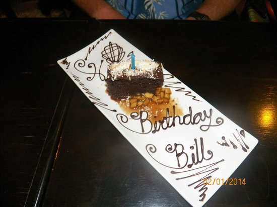 Kondesa Restaurant: Bill's Birthday Cake