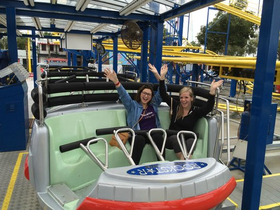 Fun Spot America: Rockstar Coaster (an employee offered to take the picture)