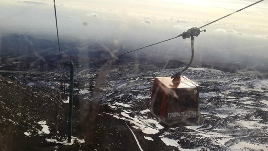 Funivia dell'Etna: photo from cable car- January 2014