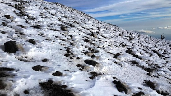 Funivia dell'Etna: snow on Etna- January 2014