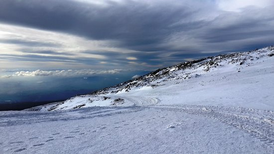 Funivia dell'Etna: beautiful white landscape - January 2014