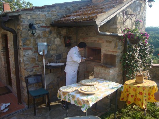 Agriturismo Podere Felceto: Pizza experience