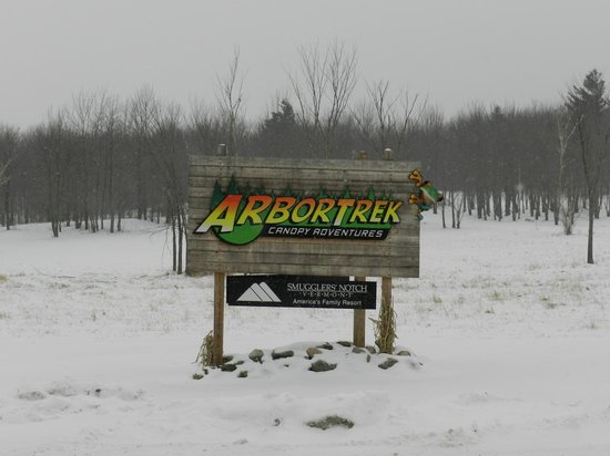 ArborTrek Canopy Adventures: Sign at the entrance