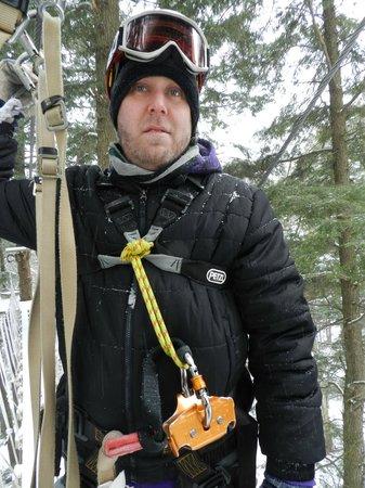 ArborTrek Canopy Adventures: Looking at the first zip line