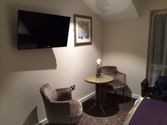 Sandford Springs Hotel: Large TV and seating area