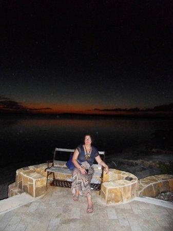 Catch a Fire Bar & Grill: The sun has set..