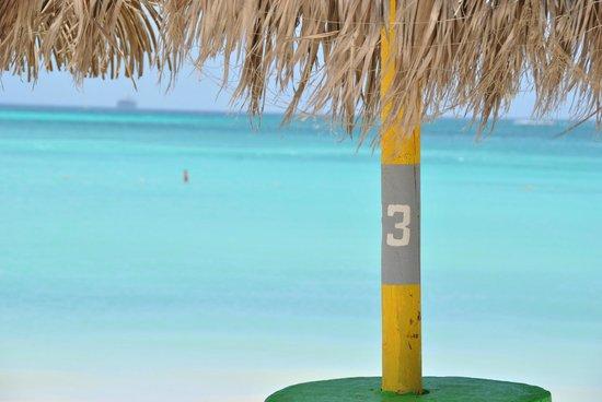 Holiday Inn Resort Aruba - Beach Resort & Casino: Palapas del hotel