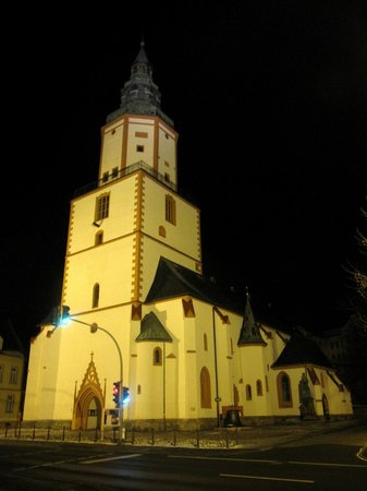 Stadtkirche St. Nicolai: Nighttime shot