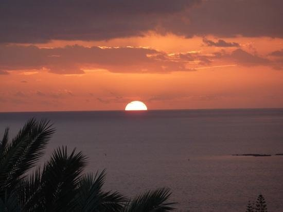 GF Gran Costa Adeje: view from our room at sunset