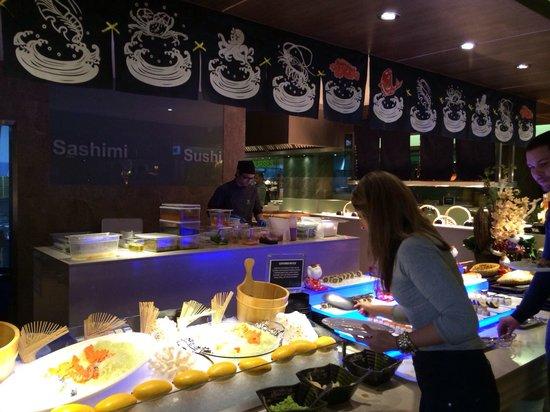 JRC Global Buffet: Japanese buffet counter