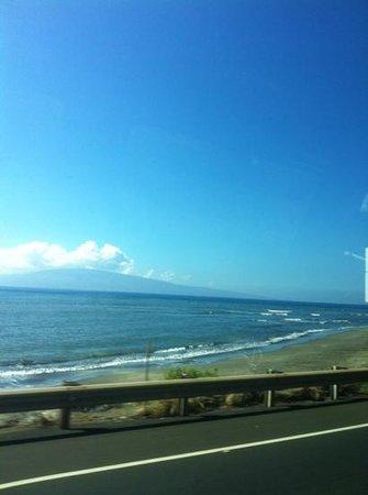 Royal Lahaina Resort : beach view by car