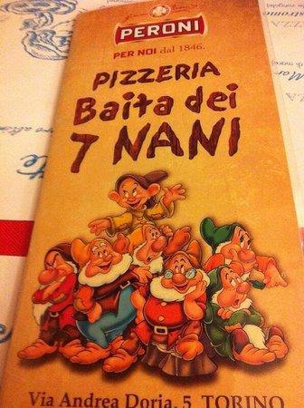 Pizzeria sette nani a Torino. In via Doria