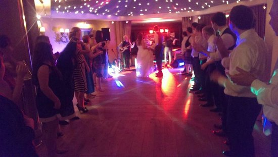 Rathmullan House: reception/dance area. ceilidh in full flow