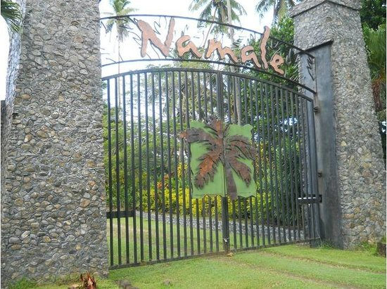 Namale the Fiji Islands Resort & Spa: The gates opening to the resort
