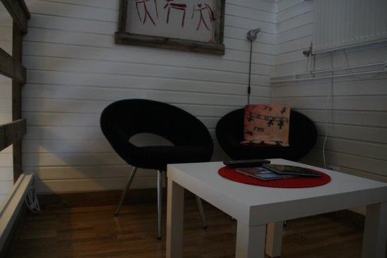 Máttaráhkká - Northern Light Lodge: upstairs in the room