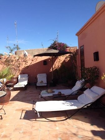 Riad Les Jardins Mandaline: the rooftop terrace