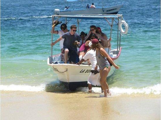 Playa del Amor : Glass bottom boat