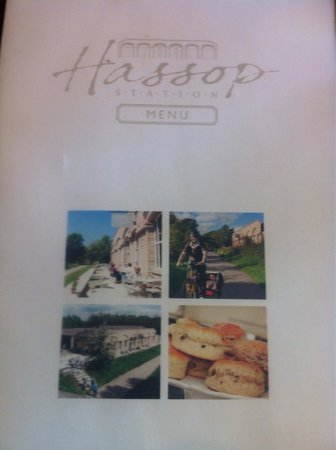 Hassop Station Cafe & Monsal Trail Cycle Hire: Menu