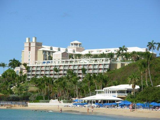 Frenchman's Reef & Morning Star Marriott Beach Resort: View From Beach Towards Hotel