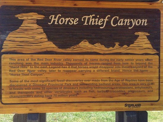 Horsethief Canyon : Information Sign