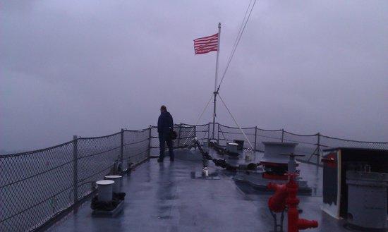 USS Turner Joy Museum Ship: Rainy Day on Deck