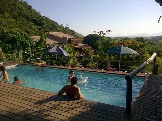 Morada da Praia do Rosa: piscina despues de la playa