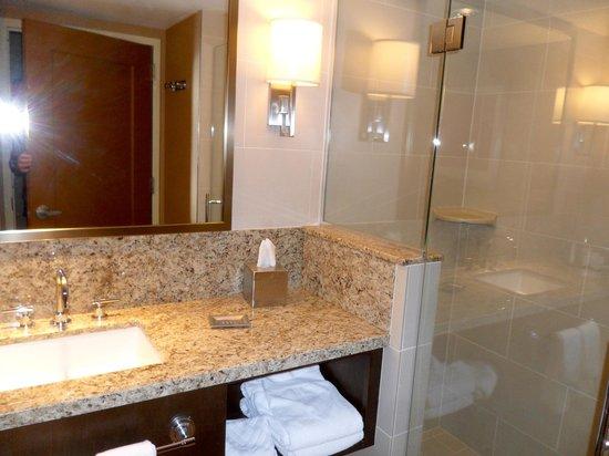 Hilton Omaha: Bathroom with standing shower