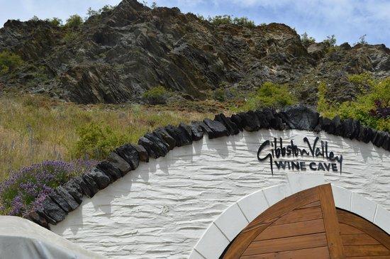 Queenstown Wine Trail: Entering the Gibbston Valley Wine Cave, Otago