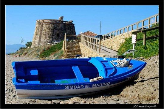 La barca del gru on picture of simbad beach restaurante - Restaurante noto marbella ...